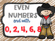 Even and Odd Numbers Poster Anchor Chart Cowboy Theme FREEBIE
