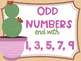 Even and Odd Numbers Poster Anchor Chart FREEBIE Cactus Succulent Theme