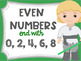 Even and Odd Numbers Poster Anchor Chart FREEBIE Star Wars Theme