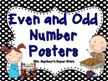 Even and Odd Numbers Poster Freebie