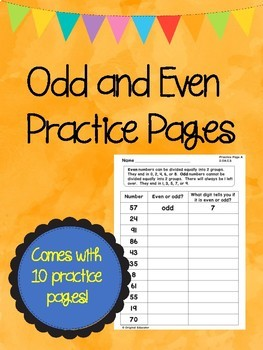 Even and Odd Numbers Practice Pages