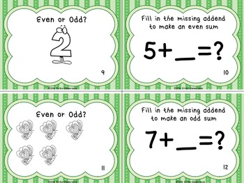 Even and Odd Numbers- Scoot Game!