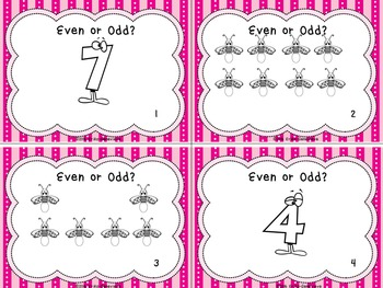 2.OA.3 Task Cards- Even & Odd Numbers