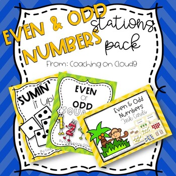 Even and Odd Numbers Stations Pack