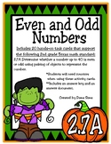 Even and Odd Numbers (TEKS 2.7A)