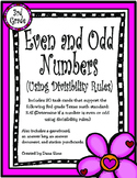 Even and Odd Numbers (Using Divisibility Rules) TEKS 3.4I STAAR Practice