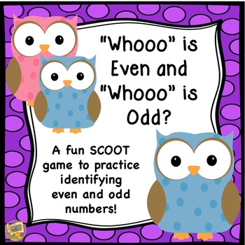 Even and Odd - SCOOT Task Card Math Game - Grades 1-3