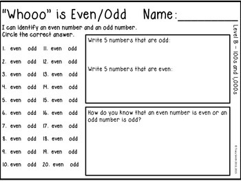Even and Odd - SCOOT Task Card Math Game - Owl Themed!  2. OA.C.3
