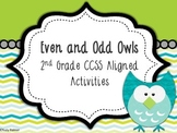 Even and Odd Owls: {2nd CCSS} Activities