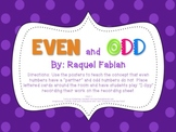 Even and Odd Posters & I-Spy game (Common Core - Math 2.OA.3)