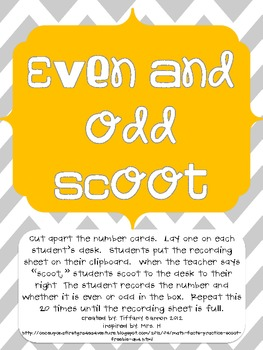 Even and Odd Scoot