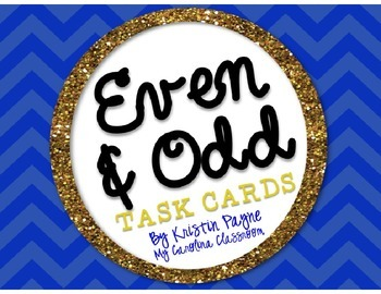 Even and Odd Scoot / math task cards