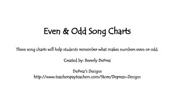 Even and Odd Song Charts