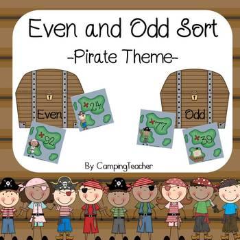 Even and Odd Sort Math Center Pirate Theme