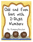 Even and Odd Sort Math Center Using 2-Digit Numbers