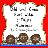 Even and Odd Sort Math Center Using 3-Digit Numbers