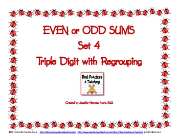 Even and Odd Sums Set 4