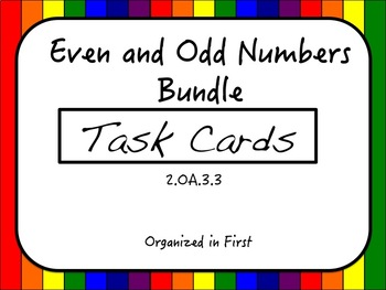 Even and Odd Task Card Bundle