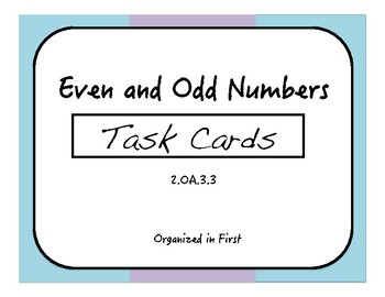 Even and Odd Task Cards