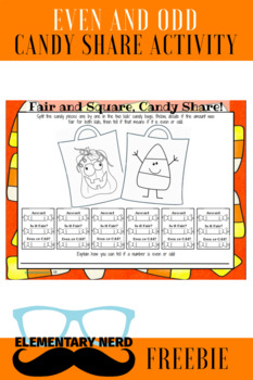 Even and Odd Trick or Treat Activity