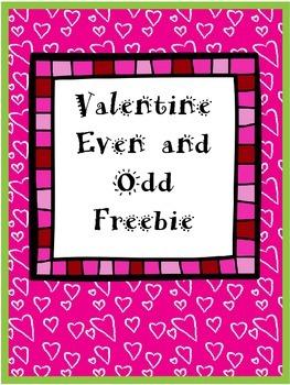 Even and Odd Valentine Freebie