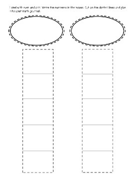 Even and Odd Visual Chart with Worksheet