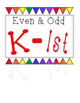 Even and Odd Worksheets for K-2