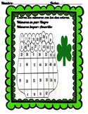 Even and Odd numbers in spanish. St. Patrick's day activity