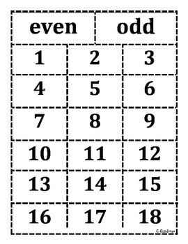 Even and Odd numbers sort
