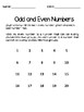 Even and Odd Math Worksheets and Story