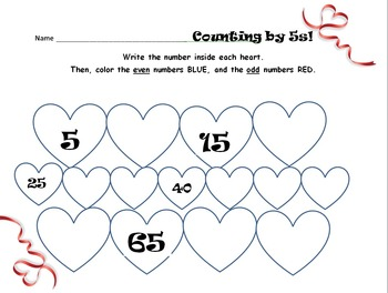 Even and odd/Counting by Fives