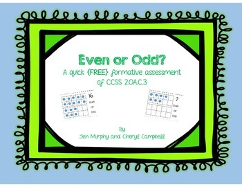 Even or Odd? A quick {FREE} formative assessment