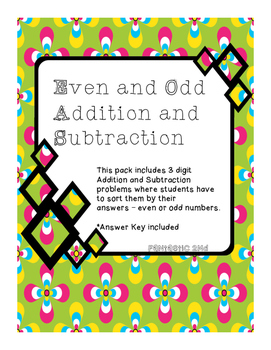 Even or Odd Addition and Subtraction