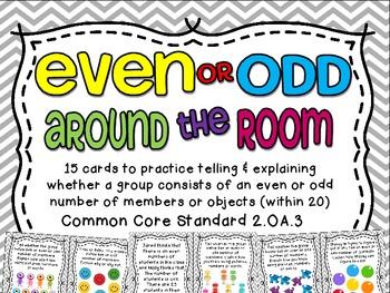 Even or Odd Around the Room {2.OA.3}