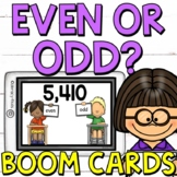 Even or Odd Boom Cards (Digital Task Cards) for Second Gra