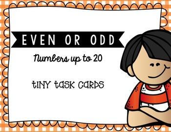 Even or Odd Bundle Tiny Task Card Set
