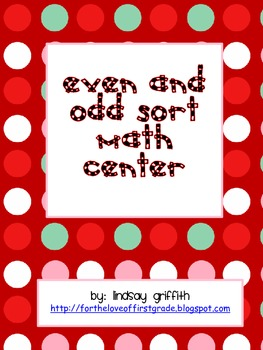 Even or Odd Christmas Gift Sort by Lindsay Griffith | TpT