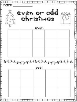 Even or Odd Christmas Gift Sort