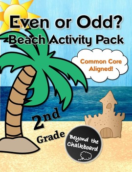 Even or Odd Common Core Beach Activity Pack for Second Grade Math