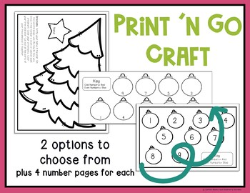 Even or Odd Christmas Tree Craft and Activity