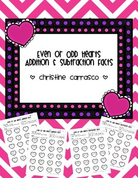 Even or Odd Hearts Addition & Subtraction Facts