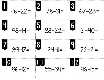 Even or Odd:  Is the Difference Even or Odd (Double-Digit Subtraction)