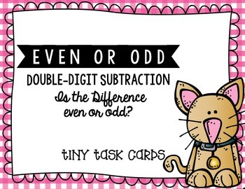 Even or Odd:  Is the Difference Even or Odd (Double-Digit