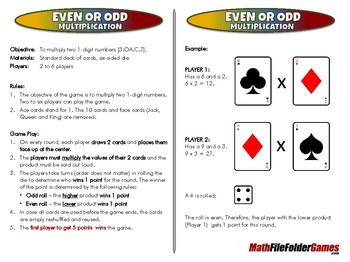 Even or Odd Multiplication - 3rd Grade Math Game [CCSS 3.OA.C.7]