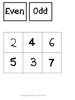 Even or Odd Number Sorts