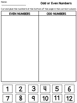 Odd and Even Worksheets (2nd Grade) by Dana's Wonderland   TpT