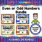 Even or Odd Numbers Seasons Powerpoint Game Bundle
