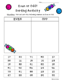 Even or Odd Numbers Sorting Activity