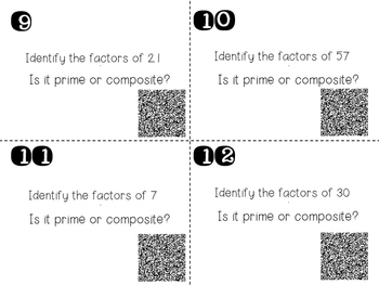 Even or Odd? Prime or Composite? Task Cards -- QR Codes Included!