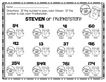 Even or Odd STEM, Printables & Learning Game